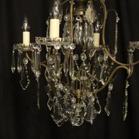 French Gilded Birdcage 5 Light Antique Chandelier (2 of 10)