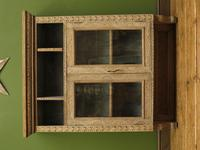 Antique Limed Oak Display Cabinet, Victorian rustic bohemian wall cabinet (14 of 16)