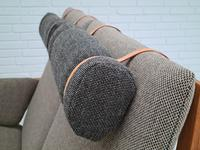 Børge Mogensen sofa, model 2252, completely renovated, furniture wool, 70s (7 of 20)
