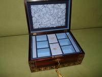 QUALITY Inlaid Regency Rosewood Jewellery Box + Tray. c1830 (14 of 15)
