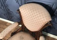 Victorian Burr Walnut & Inlaid Salon Suite (34 of 38)