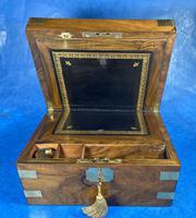 Victorian  Walnut Brassbound Writing Slope (14 of 19)