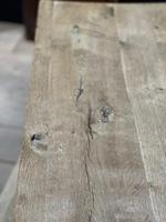 Rustic French Bleached Oak Coffee Table (9 of 20)