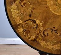 Victorian Walnut Marquetry Inlaid Circular Table (5 of 15)