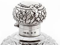 Victorian Ovoid Shape Cut Glass and Silver Perfume Bottle (3 of 5)