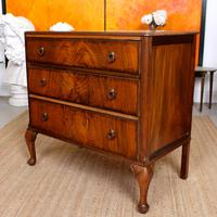 Walnut Chest of Drawers Queen Anne Style c.1920 (5 of 11)