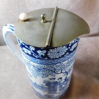 """Booth's """"Ming Pattern"""" Silicon China Lidded Jug (3 of 5)"""