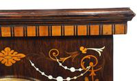 Incredible Rosewood Cased Mantel Clock with Multi Wood & Mother of Pearl Inlay 8-day Striking Clock (9 of 12)