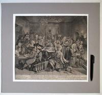 Original Second State Hogarth Print, A Rake's Progress Plate 6, 1735 (9 of 9)