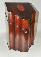 Georgian Mahogany Knife Box, Complete (2 of 8)