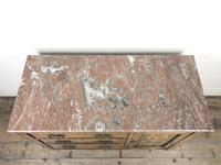 Antique Oak Arts & Crafts Marble Top Cupboard (8 of 12)