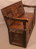 Antique Oak Settle (2 of 11)