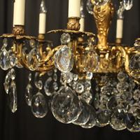 French 10 Light Gilded Bronze Antique Chandelier Oka04088 (2 of 10)