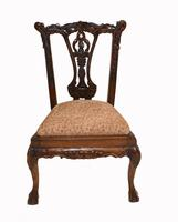 Set of Antique Child Chairs Chippendale Queen Anne (2 of 16)