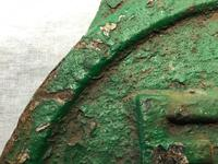 Early 20th Century Reclaimed Cast Iron Green Railway Train Sign Plaque EW1 (2 of 12)