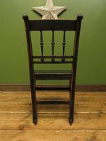 Small Antique Wooden Black Painted Chair, Gothic Shabby Chic (13 of 13)
