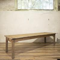 Large Scale 19th Century French Sycamore & Oak Farmhouse Table & Benches (8 of 19)