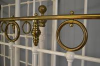 Matching Pair of Victorian Beds, 3ft Single Brass & Iron Bedsteads (5 of 12)