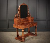 Victorian Figured Walnut Dressing Table (3 of 17)