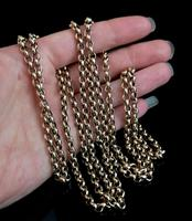 Antique gold longuard chain, necklace (5 of 14)