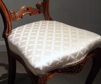 Pair of 19th Century Carved Satinwood Balloon Back Chairs (3 of 9)