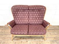 Vintage Ercol Evergreen Two Seater Sofa & Armchair (2 of 10)