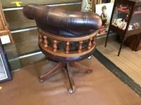 Swivel Leather Buttoned Desk Chair (7 of 10)
