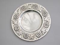 Victorian Arts & Crafts Hand Raised Silver Exhibition Dish by W G Connell, London, 1893 (5 of 10)