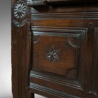 Antique Coffer, French, Oak, Window Seat, Storage Bench c.1700 (11 of 12)