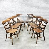 8 x 19th Century Windsor Kitchen Chairs (8 of 9)