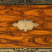 Superb William IV Brass Inlaid Kingwood Writing Box by Edwards (8 of 17)
