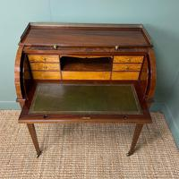 Superb Quality Victorian Antique Cylindrical Mahogany Desk by Maple & Co (11 of 12)