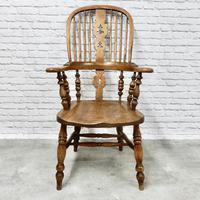 Antique Broadarm Windsor Armchair in Ash & Elm (3 of 7)