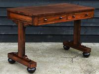 Superb Quality Regency Rosewood Library Table / Desk / Hall Table (5 of 7)