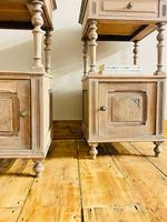 Antique French Bedside Tables / Marble Bedside Cabinets / Nightstands (5 of 7)