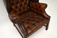 Antique Leather  Wingback Armchair (6 of 9)