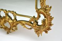 Large Antique Chippendale Style Gilt Brass Mirror (11 of 12)