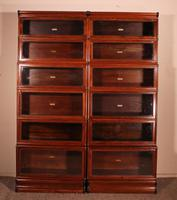 Pair of Globe Wernicke Mahogany Bookcases - 6 Elements (2 of 10)