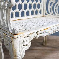 20th century Cast Iron Bench (2 of 7)