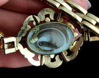 Antique Mourning Bracelet, 9ct Gold, Hairwork, Conversion (8 of 11)