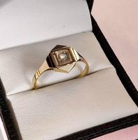 1920s Art Deco Diamond Ring 18ct White Yellow Gold (2 of 8)