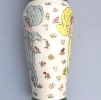 Margaret E Thomson : Royal Doulton Lambeth Faience Vase Mucha Style C.1900 (7 of 10)