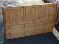 1960's Country Pine Large Panelled Settle (4 of 4)