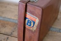Large Vintage Brown Leather Suitcase (10 of 15)