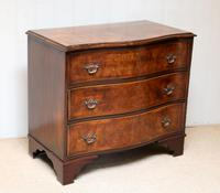 Walnut Serpentine Front Chest of Drawers (6 of 10)