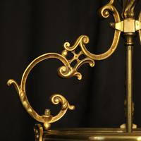 French Gilded Bronze Antique Hall Lantern (4 of 10)