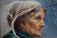 French School Exhibition Portrait Bretonne Fisherwoman c.1930 (30 of 36)