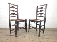 Pair of Antique Ladder Back Chairs (3 of 8)