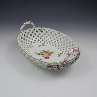 Fine Large Chelsea Red Anchor Porcelain Basket c.1750-1758 (8 of 18)