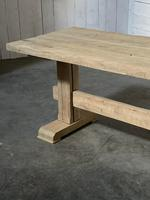 Primitive French Bleached Oak Farmhouse Dining Table (13 of 20)